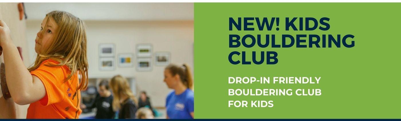 Kids Bouldering Club banner
