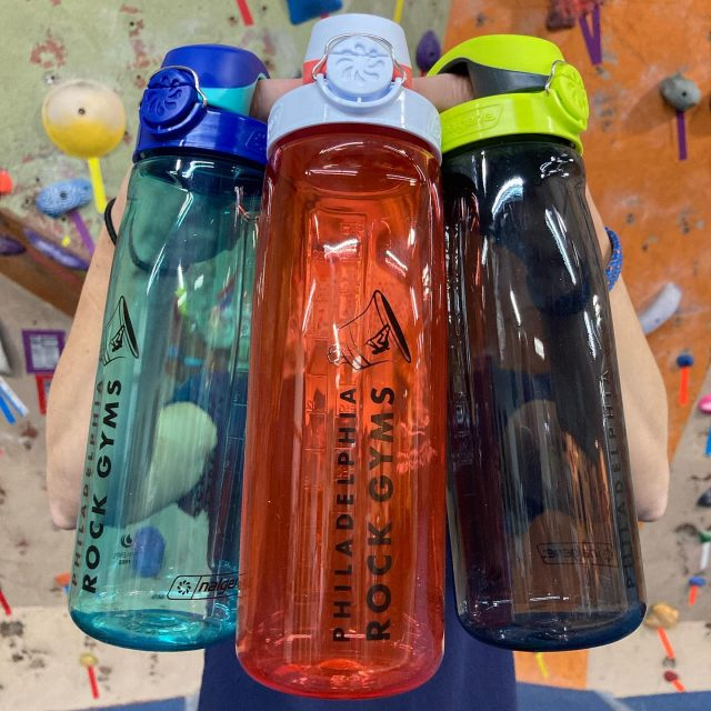 2.5% of the water in the world is drinkable. Take 24oz of it anywhere with the NEW On-The-Fly Nalgene: a pop-top for easy, one-handed access that locks to prevent spills.  Plus, caps are interchangeable with the 32oz wide mouth bottles.  Get yours while they last!  #confidencecommunityclimbing #stayhydrated #prg #reusablebottle #reducereuserecycle #nalgene #drinkwater