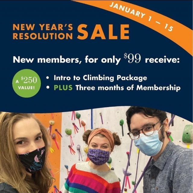 Tag a friend that should take advantage of the best deal of 2021!  NEW Members: For just $99, receive:   - Intro to Climbing Package - PLUS 3 mo. of Multi-Gym Membership: Unlimited access to all 5, soon to be 6, PRG locations.  (That's a $250 value!)   #confidencecommunityclimbing #positivelyprg #phillyclimbers #phillyclimbing #bouldering #newyearsresolution #2021goals #indoorclimbingwall