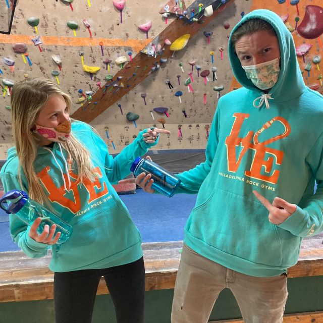 Matching Monday!   Tag your 2nd @ to see who you have to coordinate an outfit with! What are you wearing?   #matchingmonday #confidencecommunityclimbing #positivelyprg #phillyclimbers #prg #indoorclimbing