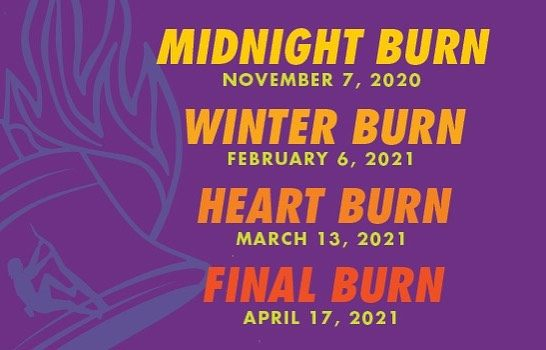 Check out the new dates for our [COVID friendly] Burn Series!   Join us for the long awaited & anticipated Winter Burn happening February 6th!   For info or to register, click the link in our bio.  #confidencecommunityclimbing #winterburn #burnseries #climbon #theshownustgoon