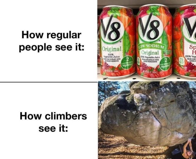 Enjoy.  #confidencecommunityclimbing #mememonday #smile #behappy #climbingmeme #v8 #bouldering