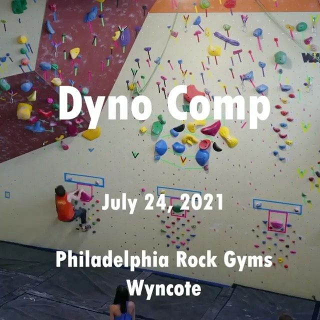 Haven't had the chance to do a Dyno Comp??  Last chance, this Saturday 7/31 to join the fun at Malvern!! See the link bio to sign up 🔗 . . . #dynocomp #dynosfordayz #jumparound #confidencecommunityclimbing  #prgclimbing #prg #prgdynos