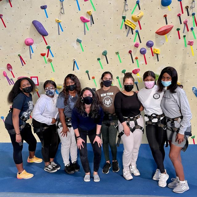We had the absolute best time with the student board members of @sister2sister_psu from @psuabington this weekend.  - These brilliant ladies tackled some of our hardest team building challenges with grace and persistence. Thank you so much for spending your Saturday afternoon with us, ladies! Best wishes for an amazing year. . . . #prgclimbing #prggroups #confidencecommunityclimbing #prgteambuilding